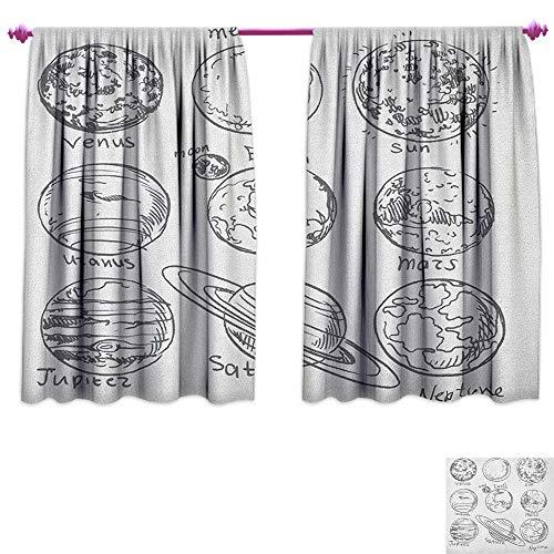 SHOPUS | homefeel Doodle Room Darkening Wide Curtains