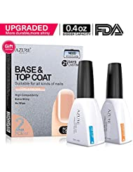 Base Coat No Wipe Top Coat Set (2x12ml)for UV LED Gel...