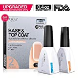 #10: Base Coat No Wipe Top Coat Set for UV LED Gel Nail Polish LED Nail Lamp 0.4 Ounce Big Capacity by Azure Beauty