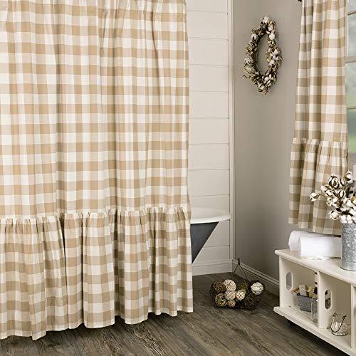 Piper Classics Rebecca High Ruffle Shower Curtain, 72