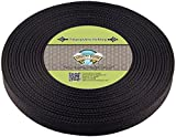 Country Brook Design 1 Inch Black Polypro Webbing, 50 Yards