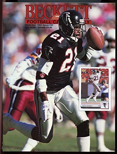 Football Cover Beckett (Beckett Football Card Monthly #32 November 1992 Deion Sanders Falcons Cover VERY GOOD)
