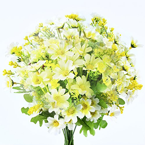 Artificial False Rose Silk Flowers Wedding Garden Decor Decoration White - 3