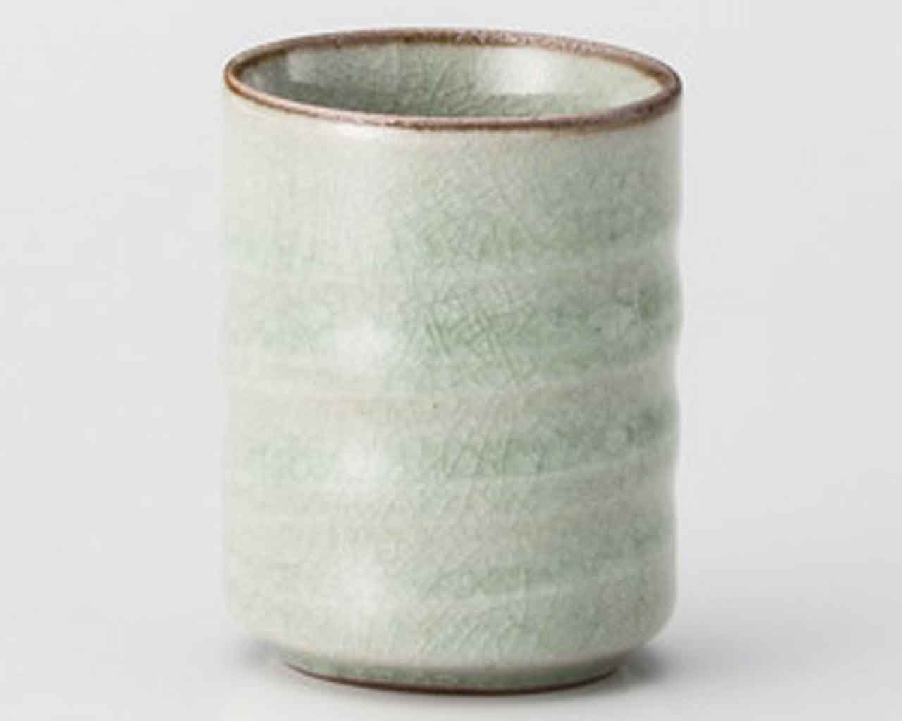 Kanyu 6cm Japanese Tea Cup Green Ceramic Made in Japan watou.asia