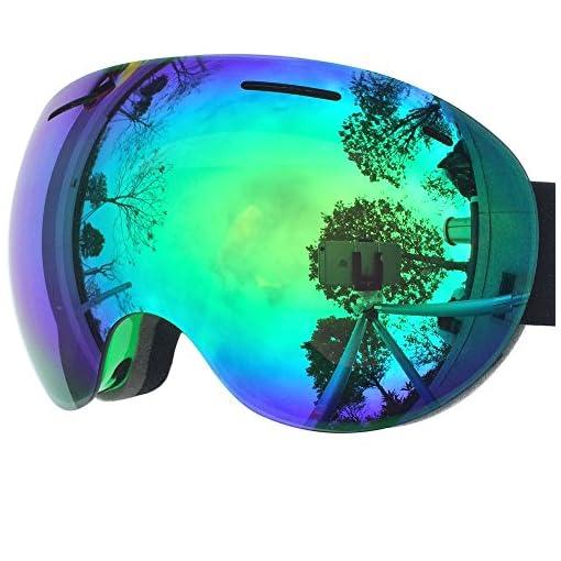 74c7e4807b Zionor X5 Ski Snowmobile Snowboard Snow Goggles with UV400 ...