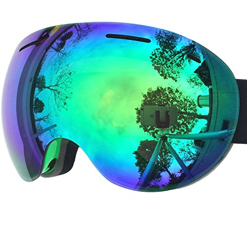 51BauXGx2tL - ZIONOR X5 Ski Snowmobile Snowboard Snow Goggles with UV400 Protection Anti-fog Oversized Spherical for Men Women