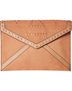 Leo with Studs Envelope Clutch