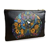 "Artist Designed Clutch Bag/Purse/Pouch/Wristlet by Create&Case ""Peacock Garden"""