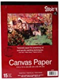 Darice 9-Inch-by-12-Inch Canvas Paper, 15-Sheets