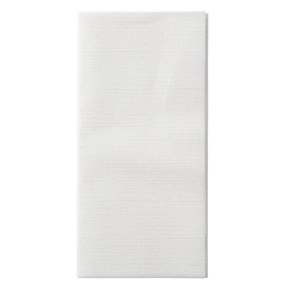 Hoffmaster 120072 Linen-Like Select Dinner Napkin, 17'' Length x 17'' Width, White, 1/8 Fold (Case of 300)