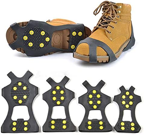 Details about  /Outdoor Winter Snow Anti Slip Ice Grippers For Boots Shoes Grips Spikes Crampons