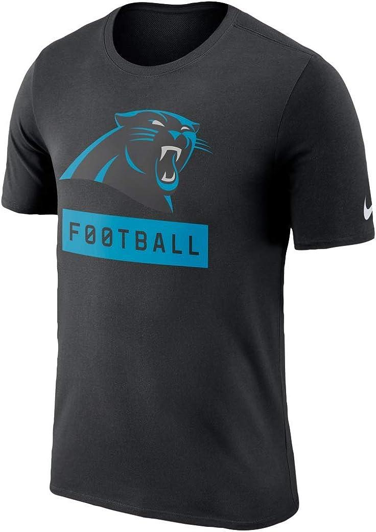 Nike Mens Carolina Panthers Legend Football Equipment Dri-Fit T-Shirt Black