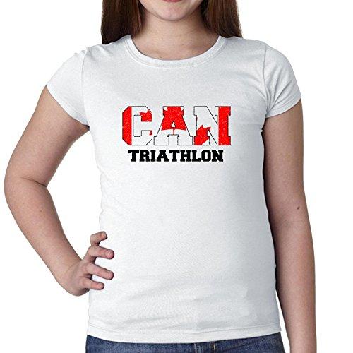 Canada Triathlon - Olympic Games - Rio - Flag Girl's Cotton Youth - Canada Apparel Triathlon