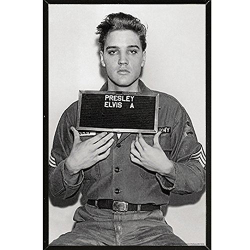 Elvis Presley-Enlistment Photo Poster in a Black Thin Poster