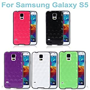 High Quality Ultra-thin Lightweight TPU Protective Hard Back Case Shell Cover for Samsung Galaxy S5 i9600 Multiple Colors --- Color:Rose