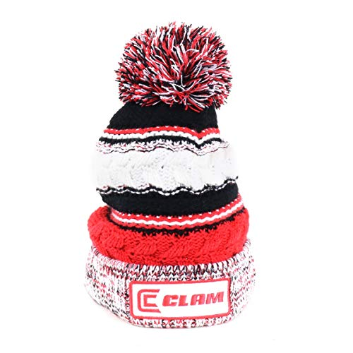 Clam 10958 Red Knit Pom Stocking Hat