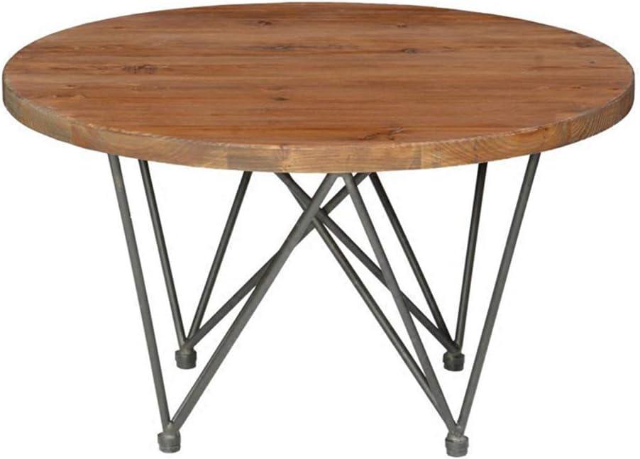 レトロコーヒーテーブルパインウッドラウンドエンドサイドテーブル、ホームオフィス用リビングルーム家具の装飾のための純粋な手作り
