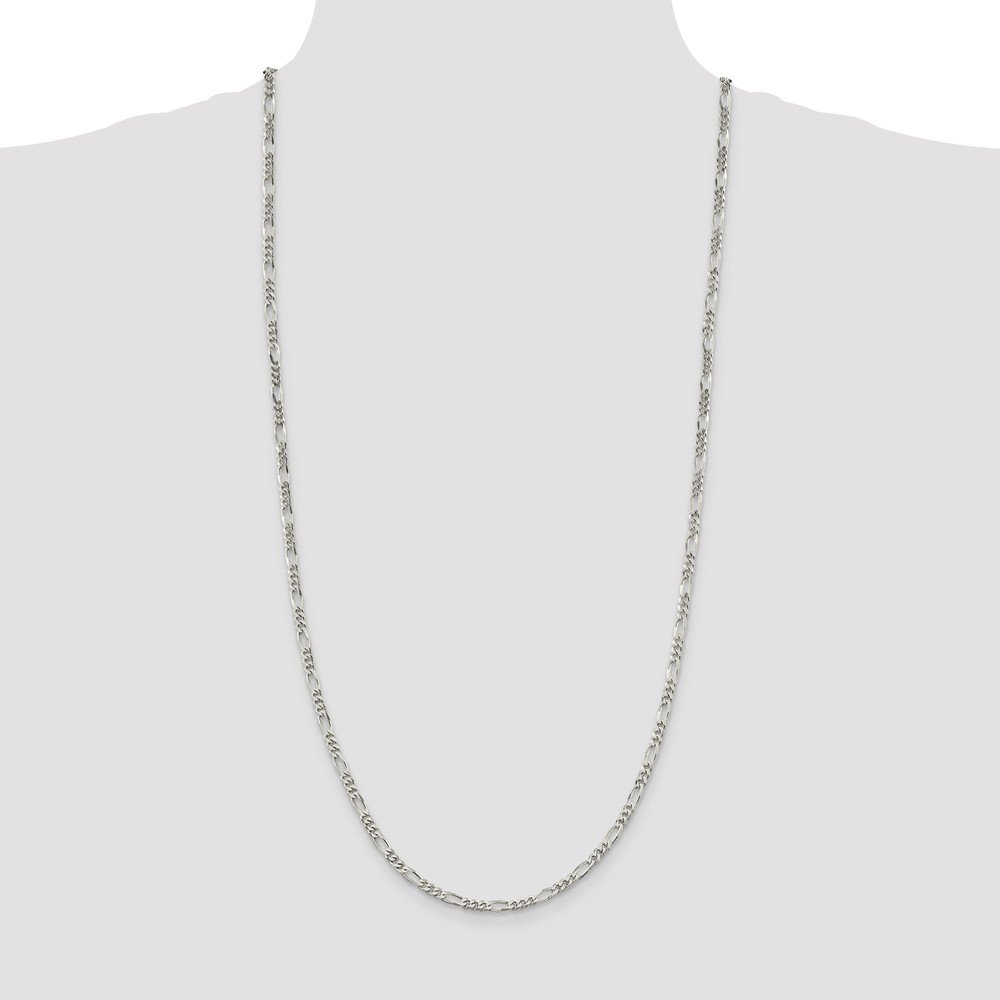 925 Sterling Silver Figaro Chain Necklace