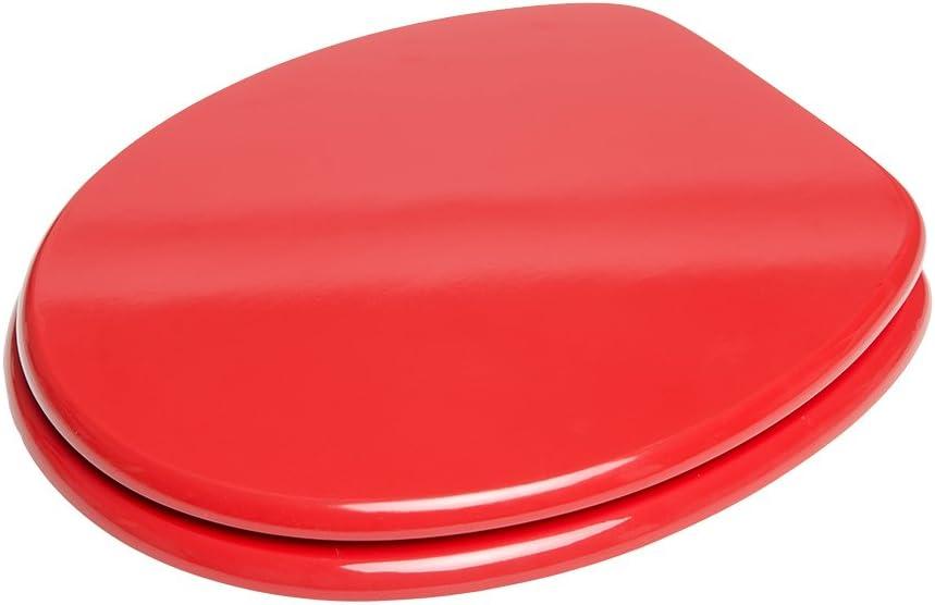 Finition de haute qualit/é Facile fixation Rouge Abattant WC frein de chute soft close