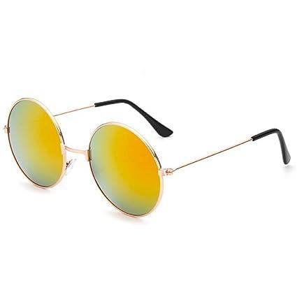 NoyoKere Gafas de sol redondas de la vendimia de la lente de las mujeres de los