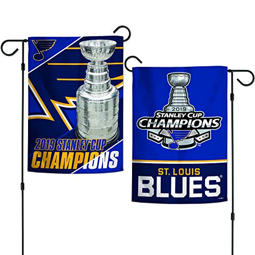 WinCraft St. Louis Blues 2019 Stanley Cup Champions Garden Flag 2 Sided 12.5