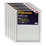 Filtrete MPR 1500 12 x 30 x 1 Healthy Living Ultra Allergen Reduction HVAC Air Filter, Captures Microscopic Particles, Delivers Cleaner Air Throughout Your Home, 6-Pack