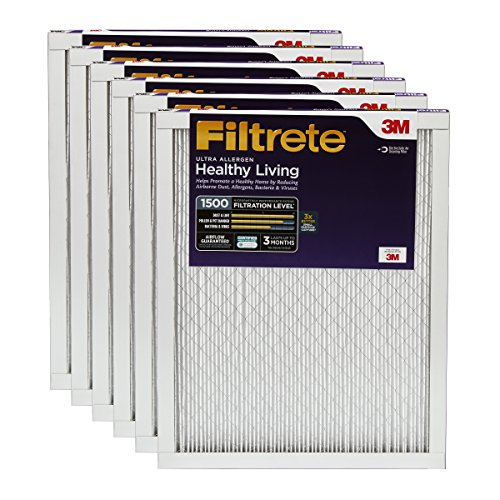 Filtrete MPR 1500 14 x 25 x 1 Healthy Living Ultra Allergen Reduction HVAC Air Filter, 6-Pack