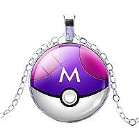 Inception Pro Infinite Collar de Pokémon Go Poke 'Ball Poke' (Púrpura - Blanco)
