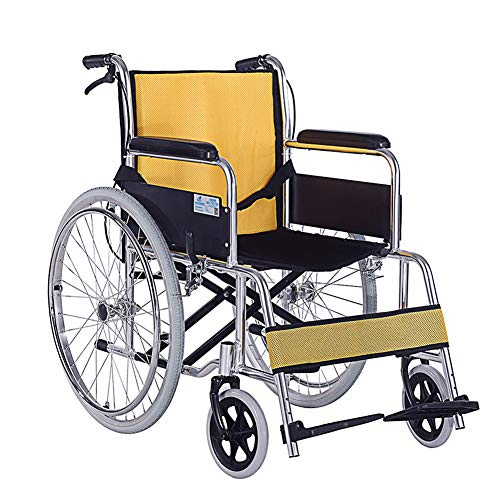 Bariatric Folding Wheelchair - Plightweight Transport Adult Folding Wheelchair with Front and Rear Brake,Portable,44.5Cm Seat,with Storage Bags,Aluminum