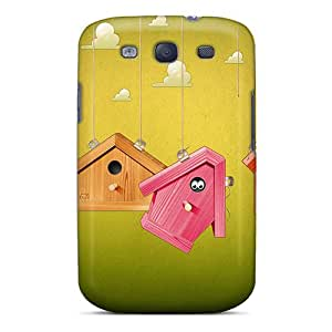 JamanyRossy Jlt12297VEwf Cases Covers Skin For Galaxy S3 (3d Birdhouses)