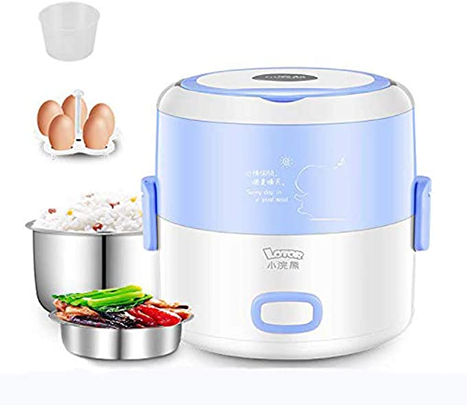 GQ Robot De Cocina,Fiambrera De Cocina Multifuncional,Calefacción De Forro De Acero Inoxidable 304 De Doble Capa,Mini Arrocera,Azul: Amazon.es: Hogar