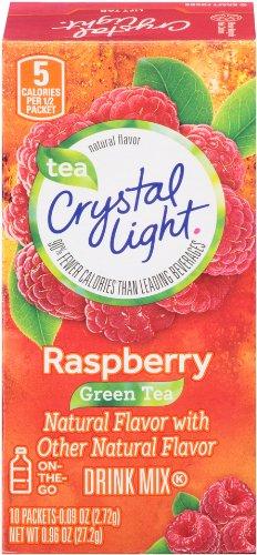 Crystal Light On The Go, Raspberry Green Tea, 10 (Crystal Light On The Go Packets Raspberry Ice)