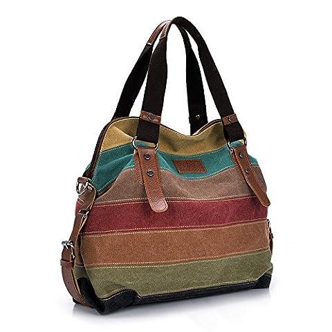 Canvas Shoulder Bag Crossbody Tote Satchel Fashion Women Handbag Purse Messenger