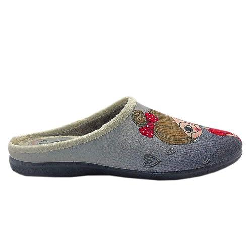 222SHOP Secretaria Gris, Zapatillas de Andar por casa para Mujer: Amazon.es: Zapatos y complementos