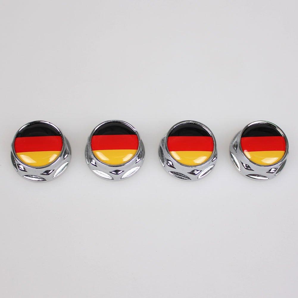 Beautost Racing Sports GE Germany Flag Flag Car Emblem License Plate Frame Screw Bolt Fastener Bolts