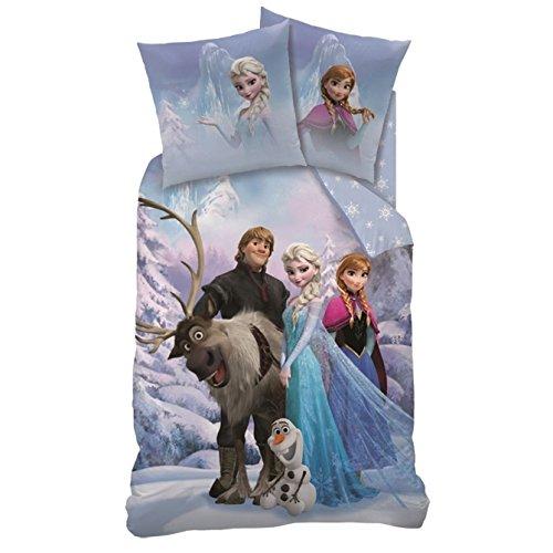 Wende Bettwäsche Die Eiskönigin, 135 x 200 cm 80 x 80 cm , 100% Baumwolle, Linon, Frozen