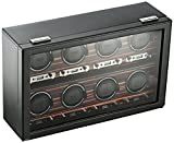 WOLF 459356 Roadster 8 Piece Watch Winder with Cover, Black
