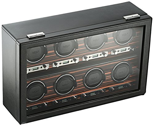 WOLF 459356 Roadster 8 Piece Watch Winder with Cover, Black from WOLF