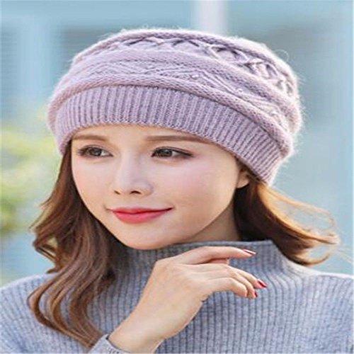 Cappello In Rosa Autunno Inverno Lavorato Caldo Lana Gaoqiangfeng Ha6qnw8