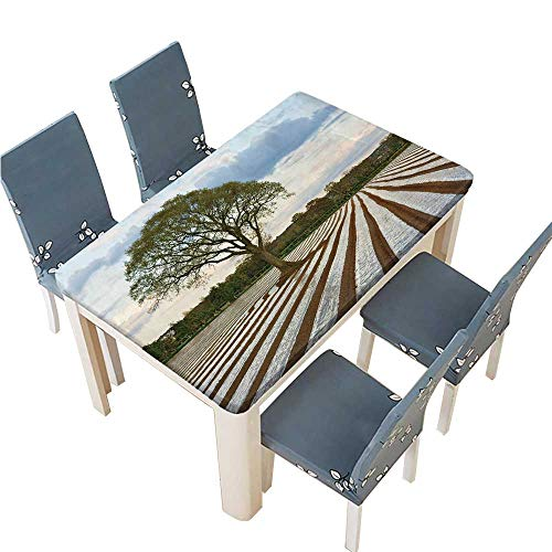 PINAFORE Polyester Table Cloth Lone Tree in Ploughed