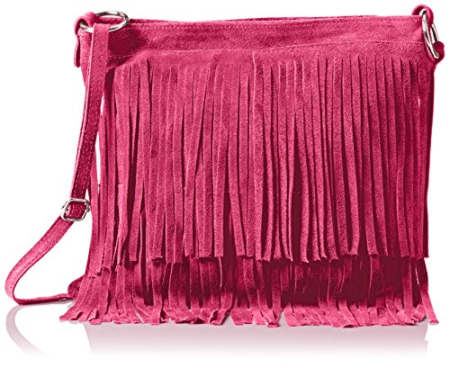 Handbags Fuchsia Bandoulière Daniela Girly Sac Rose 8wZxYd