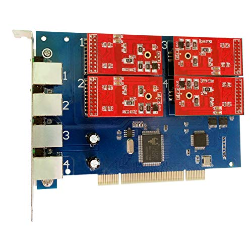 - 4 Port Analog Card with 4 FXO Ports Supports FreePbx Issabel Asterisk PCI Card tdm410