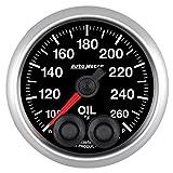 AutoMeter 5638-05702 NASCAR Elite Oil Temperature Gauge 2-1/16 in. Black Dial Face 8 User Selectable LED Colors Electric Digital Stepper Motor 100-260 Degree F NASCAR Elite Oil Temperature Gauge