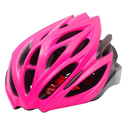 Biking Helmet-Bicycle Helmet Men Bike Helmets Lightweight Helmet for Adult Cycling Rose Red (Deluxe Womens Helmet)