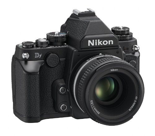 Nikon Df 16.2 MP CMOS FX-Format Digital SLR Camera with Auto Focus-S NIKKOR 50mm f/1.8G Fixed Special Edition Lens (Black)