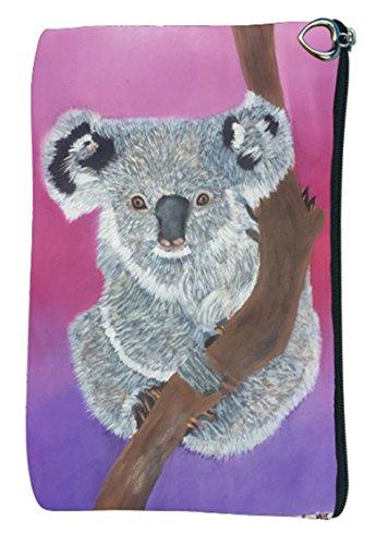 Koala Bear Cosmetic Bag, Vegan Zipper Pouch - Taken from My Original Painting