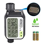 johgee Sprinkler Water Timer Digital Irrigation Timer Programmable Watering Timer Water Timer IP65 Waterproof/Rain Delay/Child Lock Mode/Auto&Manual Mode/Rain Sensor Function