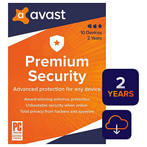 Avast Premium Security 2020 | Antivirus Protection Software | 10 Devices, 2 Years [PC/Mac/Mobile Download] (Best Antivirus Program For Windows 8)