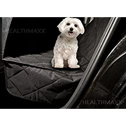 Dog Seat Covers For Cars Trucks - Waterproof Rear Seat Protector (Black)