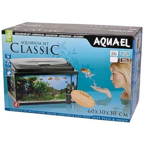 aquael Acuario Classic 60 Set Encorvada/ovalado negro: Amazon.es: Productos para mascotas